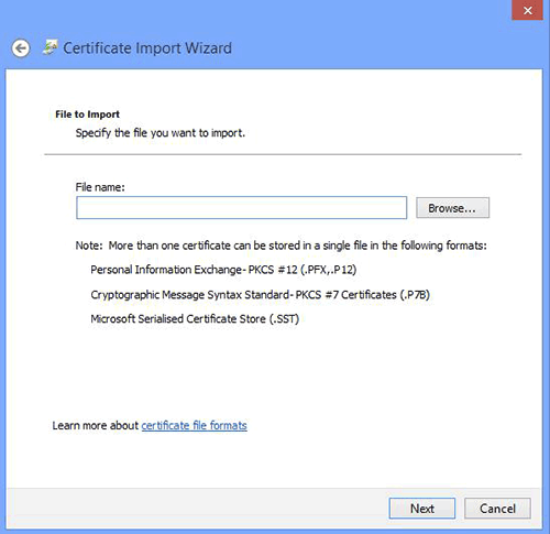 Chrome Certificate Import Wizard Location