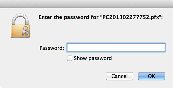 Mac OS Chrome Install Password