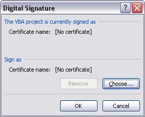 Digital Signature Window