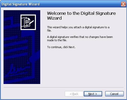 Timestamping Digital Signature Wizard