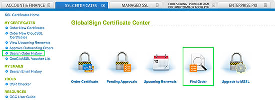 GlobalSign Certificate Center
