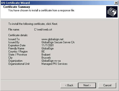 GMO GlobalSign | Install Certificate - Microsoft Exchange...