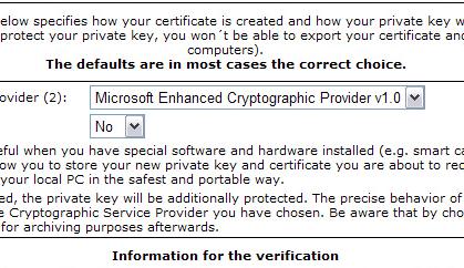 Cryptographic Service Provider