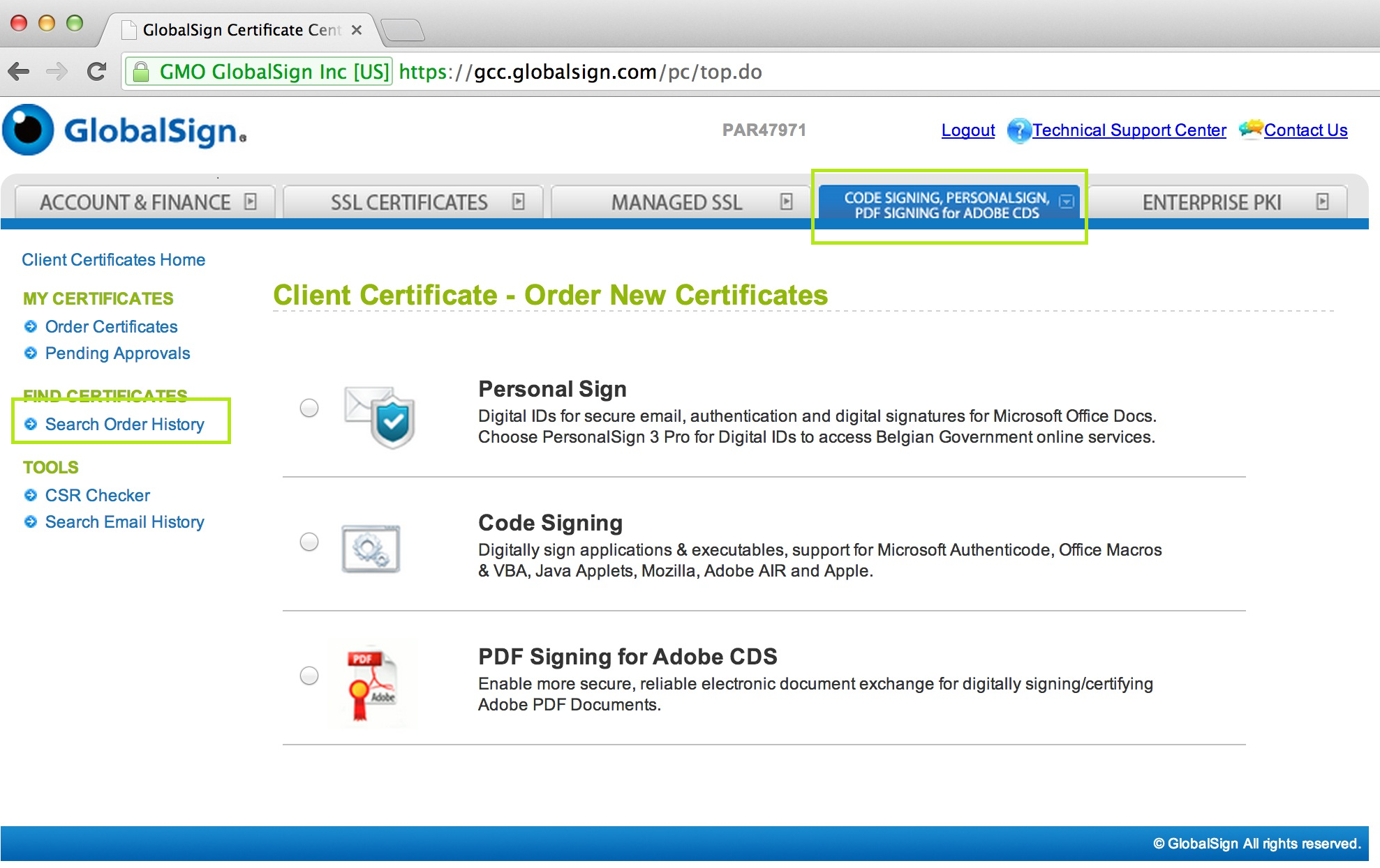 Gmo Globalsign Renew Your Client Digital Certificate