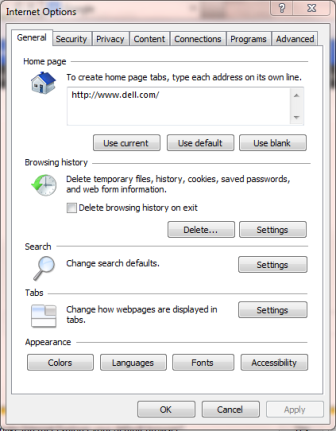 Internet Explorer Export Options