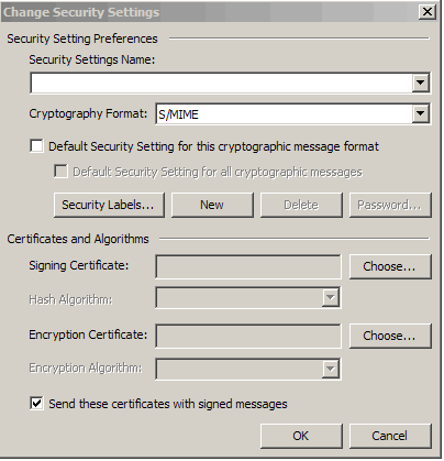 Change Security Settings