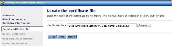 Locate Certificate