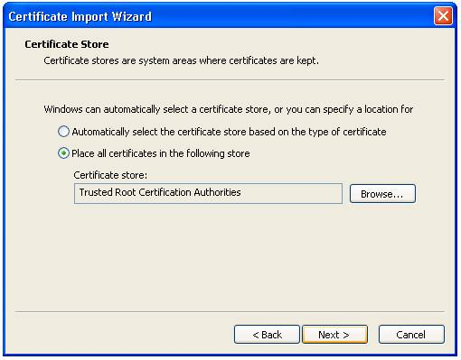 GMO GlobalSign | Update GlobalSign Root Certificate - Win