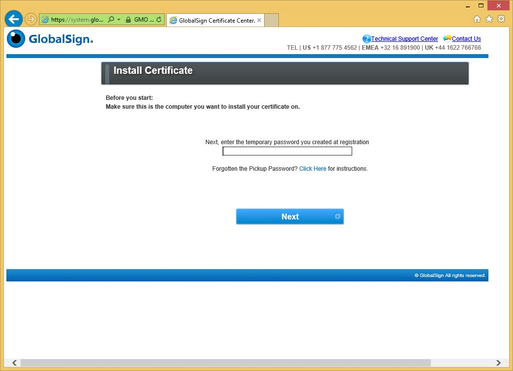 Gmo Globalsign Step 3 Download And Install The Certifi