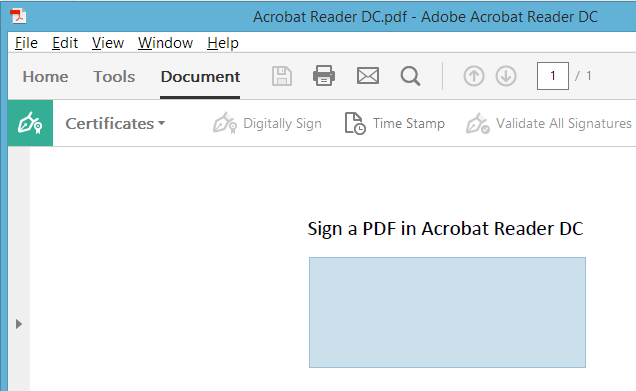 When You Release The Signature Rectangle A Window Will Appear With Signing Options Choose Your Certificate From Drop Down Menu