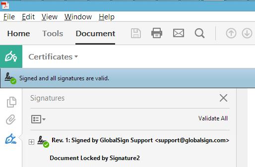GMO GlobalSign | Sign PDF - Acrobat Reader DC