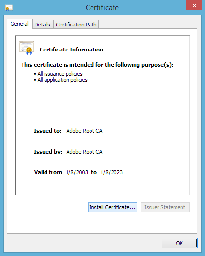 install root certificate