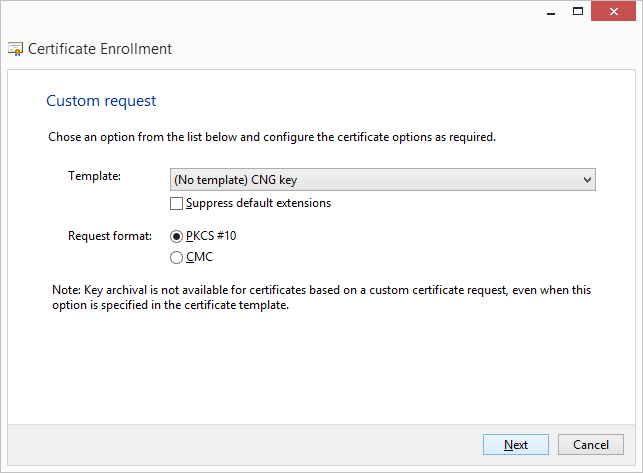 Generate ecc csr windows server 2008 expand the details section of the custom request and click properties yadclub Images