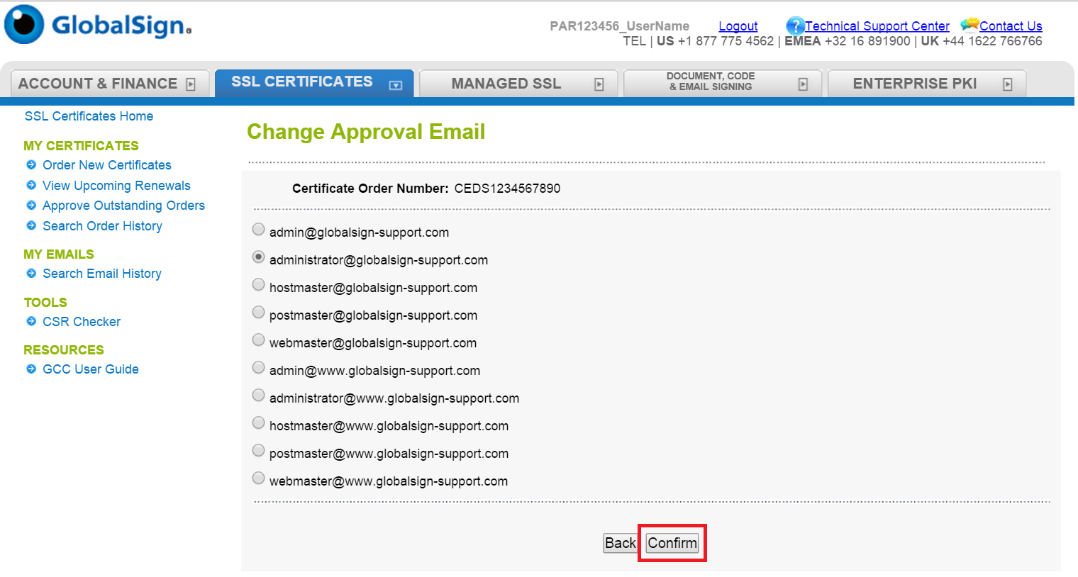 Change An Approval Email Address
