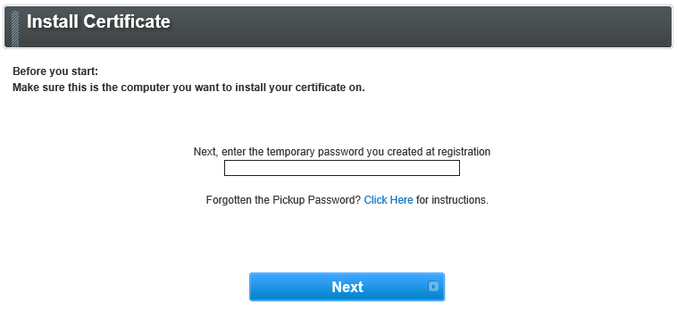 GMO GlobalSign | In-Browser Installation of Client Certif