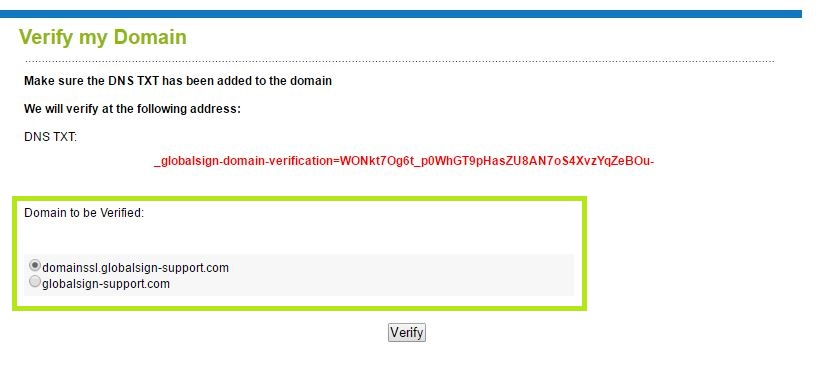 Verify the Domain Details