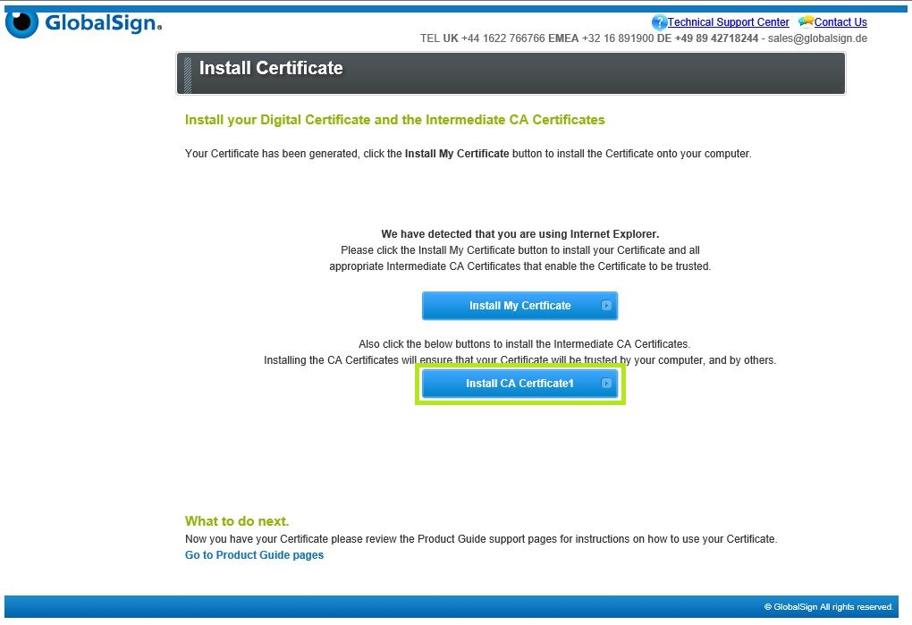 GMO GlobalSign | Download and Install Code Signing Certif