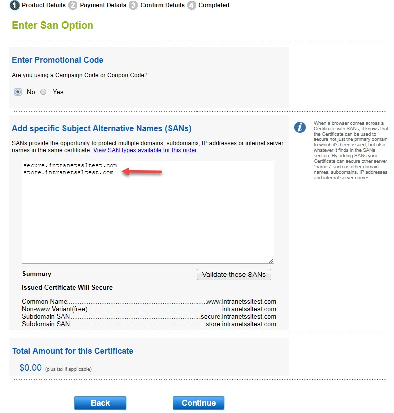 Gmo Globalsign How To Add Or Remove Sans In Managed Ssl