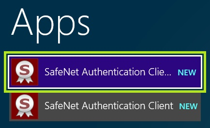 Start SafeNet Authentication Client