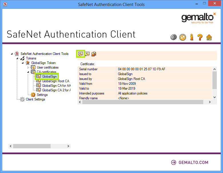 GMO GlobalSign   How to Remove an Expired Cross Certifica