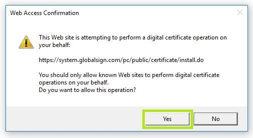 Allow Certificate Operations